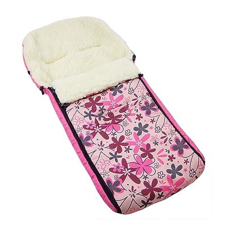 Los bebés-Dreams saco de abrigo de invierno rosa flores de colour rosa 108 cm para ...