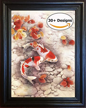 Amazon.com: Koi Fish Framed 3D Lenticular Picture - 14.5x18.5 ...
