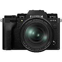 Fujifilm X-T4 Mirrorless Digital Camera, Black with Fujinon XF16-80 mm F4 R WR Optical Image Stabiliser Lens Kit