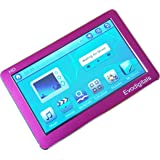 """EvoDigitals Pink 16GB 4.3"""" Touch Screen MP3 MP4 MP5 Player With TV OUT Equaliser - Videos 