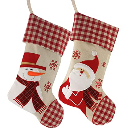 efbcaea9b53 Image Unavailable. Image not available for. Color  WEWILL Classic Christmas  Stockings Set ...