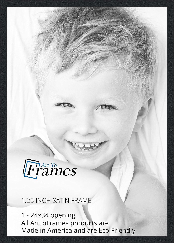 amazon com arttoframes 24x34 inch satin black picture frame