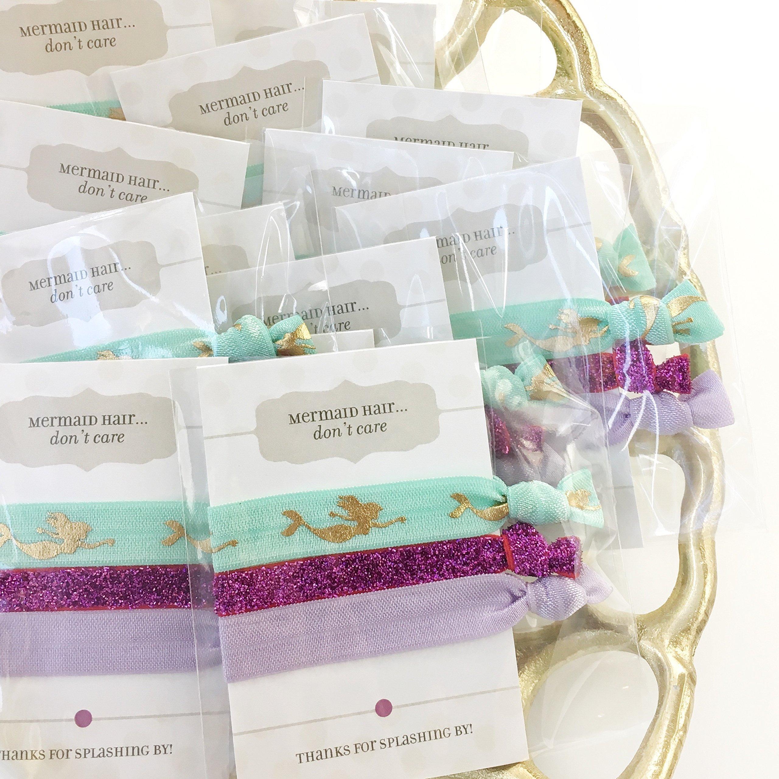 Mermaid Party Favors - Hair Ties (5 Pack) by Plum Polka Dot
