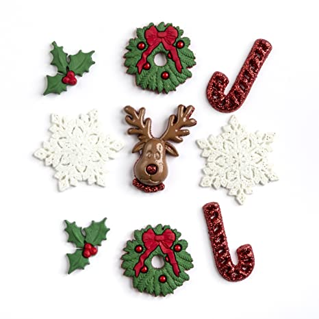 Glitter Snowflakes Jesse James Dress it Up Holiday Collection Embellishments