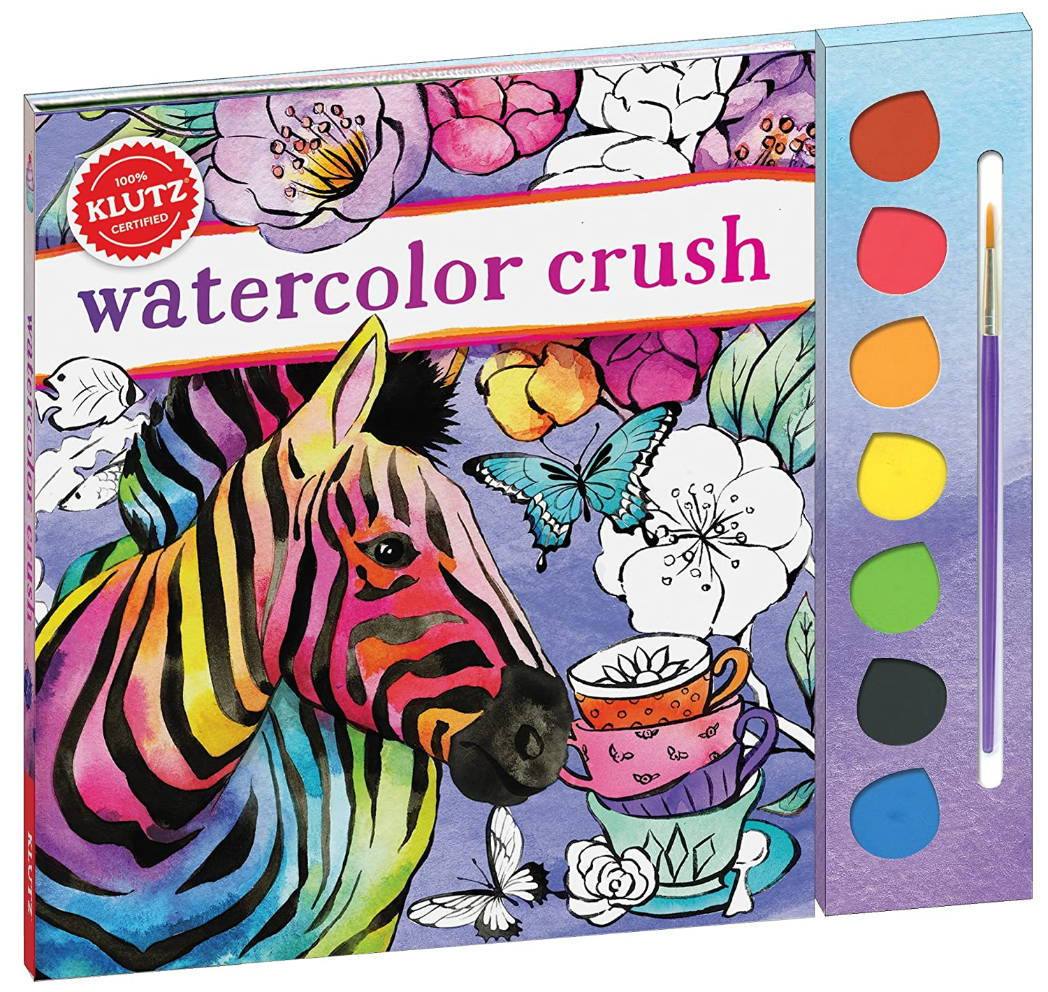 The color-play coloring book moma - Amazon Com Klutz Watercolor Crush Toy Klutz Heatherlee Chan Toys Games