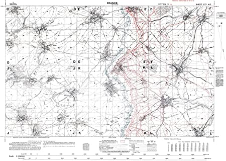 Trench Map WW1, Somme area, October 1916, 1:20,000 scale Ordnance Survey-  Reproduction