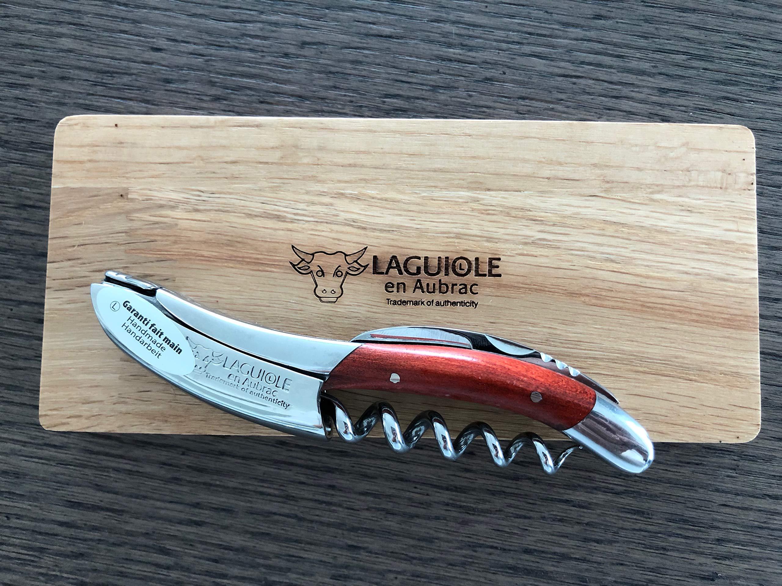 Laguiole en Aubrac Sommelier Waiter's Corkscrew, Red Heart Handle by Laguiole en Aubrac