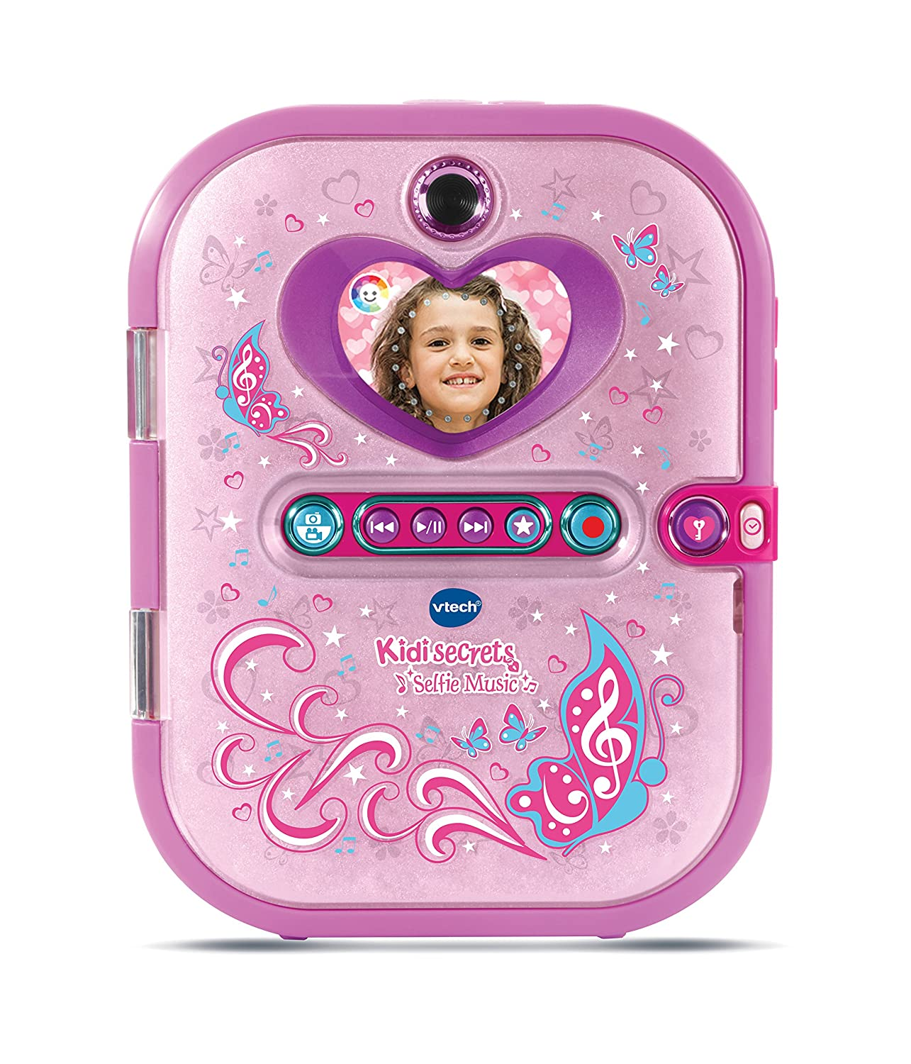 VTech - Kidisecrets Selfie Music Agenda Électronique, 163605, Rose