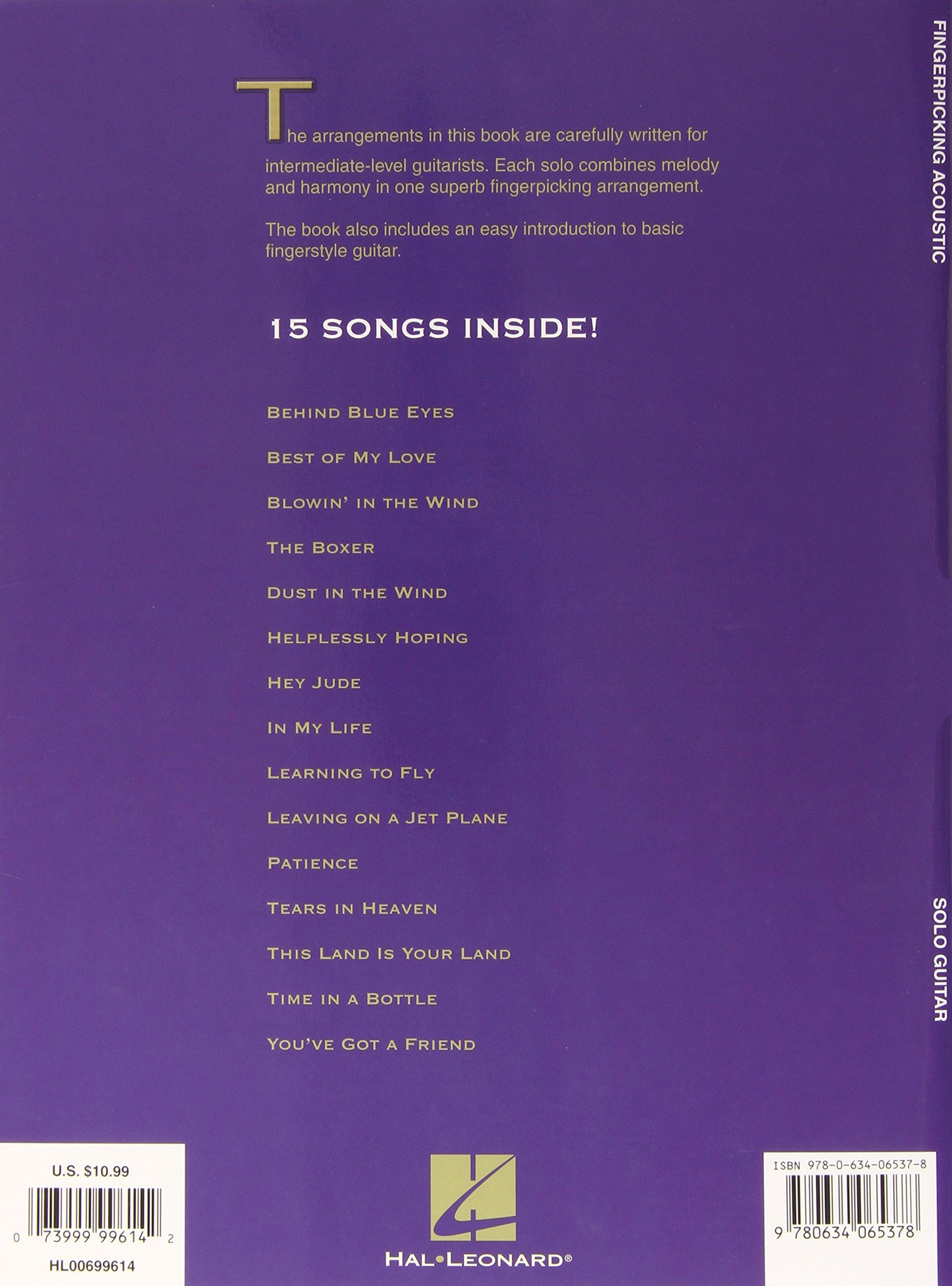 Amazon Fingerpicking Acoustic 15 Songs Arranged For Solo