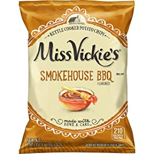 Miss Vickie's Smokehouse BBQ Flavored Kettle Cooked Potato Chips, 1.375 Ounce (Pack of 64)