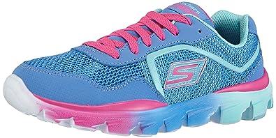 Skechers GO Run Ride, Mädchen Sneakers, Blau (PWMT), 28 EU
