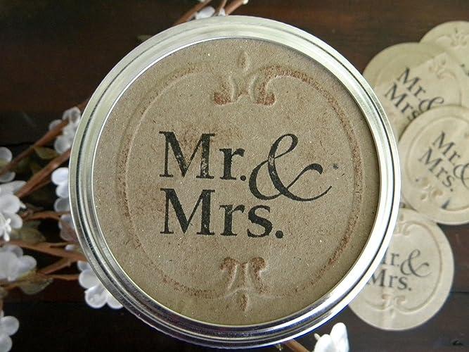 Mason Jar Labels Mr Mrs Wedding Stickers Canning
