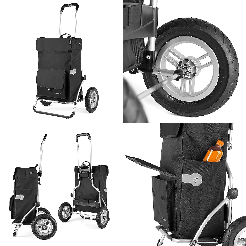cadre en acier et roues /à rayons m/étalliques Andersen Chariot de courses Royal avec sacoche Asta noire volume 45L poche isotherme