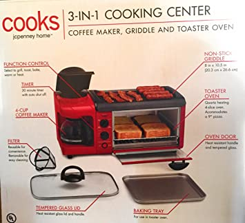 Amazon 3 In 1 Breakfast Station Toaster Oven Griddle Coffee