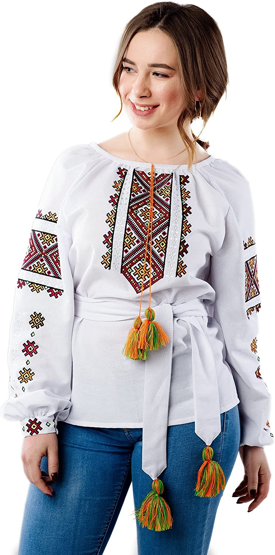 New Ukrainian Embroidered Tunic Traditional Folk Ethnic Style