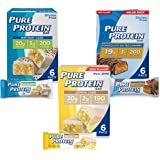 Pure Protein Bars, High Protein, Nutritious Snacks to Support Energy, Low Sugar, Gluten Free, Dessert Variety Pack, 18 Pack