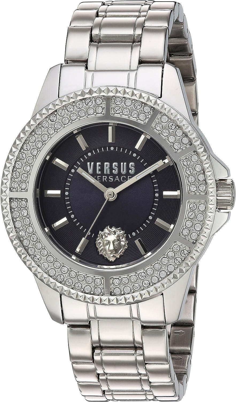 Versus by Versace Women's SGM250015 Tokyo Crystal Analog Display Quartz Silver Watch