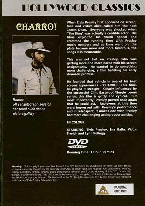 Elvis Presley - Charro (DVD) - Amazon com Music