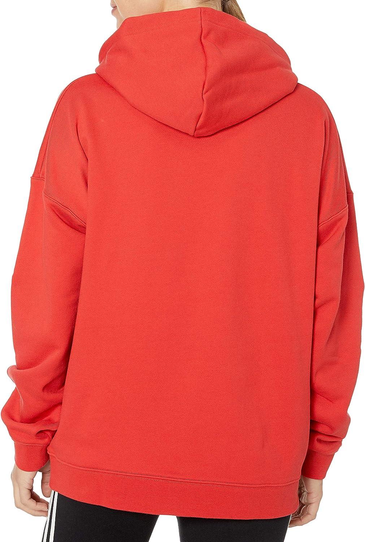 Adidas Originals Sweat à capuche pour femme Grand logo Lush Red/White