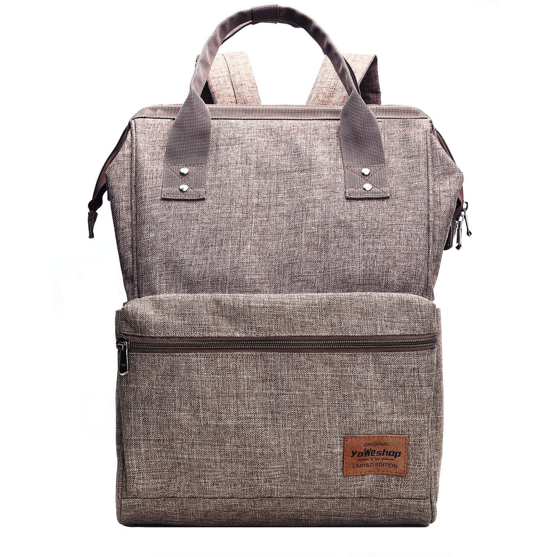 School Student Backpack Bookbag Waterproof Large College Bag Travel Daypack for Women&Men - Personalized Custom Logo (Grey)