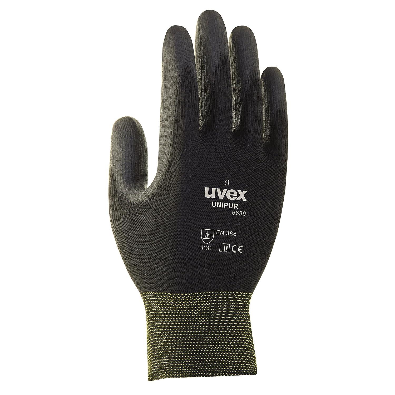 10 Paar uvex Unipur 6639 Arbeitshandschuhe mit PU Beschichtung - Schutzhandschuhe gegen mechanische Risiken EN 388 XXL (11)