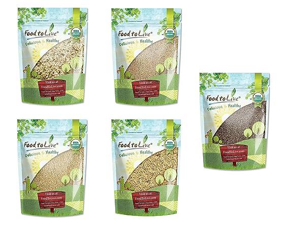 Súper semillas orgánicas: caja de regalo de Food to Live (sin OMG ...