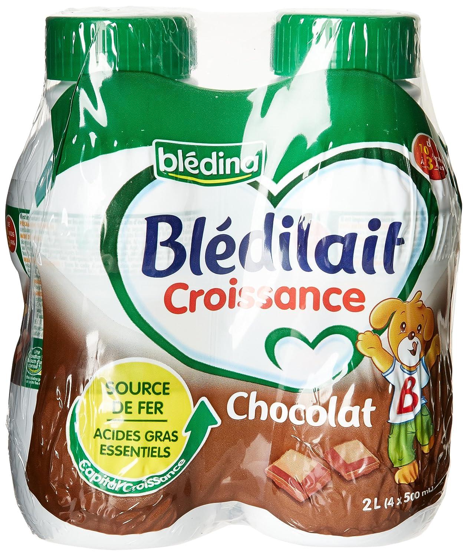 Blédina Blédilait - Lait bébé Croissance Chocolat de 10 mois à 3 ans 4 x 500 ml Blédina 550822 Blédilait bébé pantry