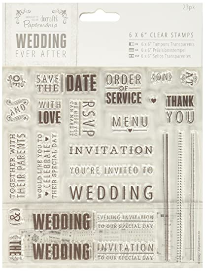 Amazon Com Docrafts Pma158901 Papermania Ever After Wedding Stamps