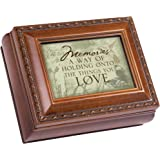 Cottage Garden Memories Love Brown Rope Trim 4.5 x 3.5 Tiny Square Jewelry Keepsake Box