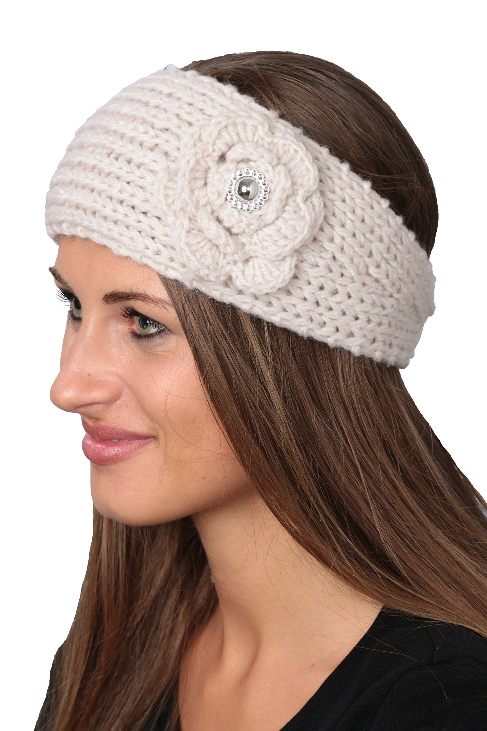 Active Club Winter Fashion Headbands-assorted Styles 2 Pack (Grey & White)
