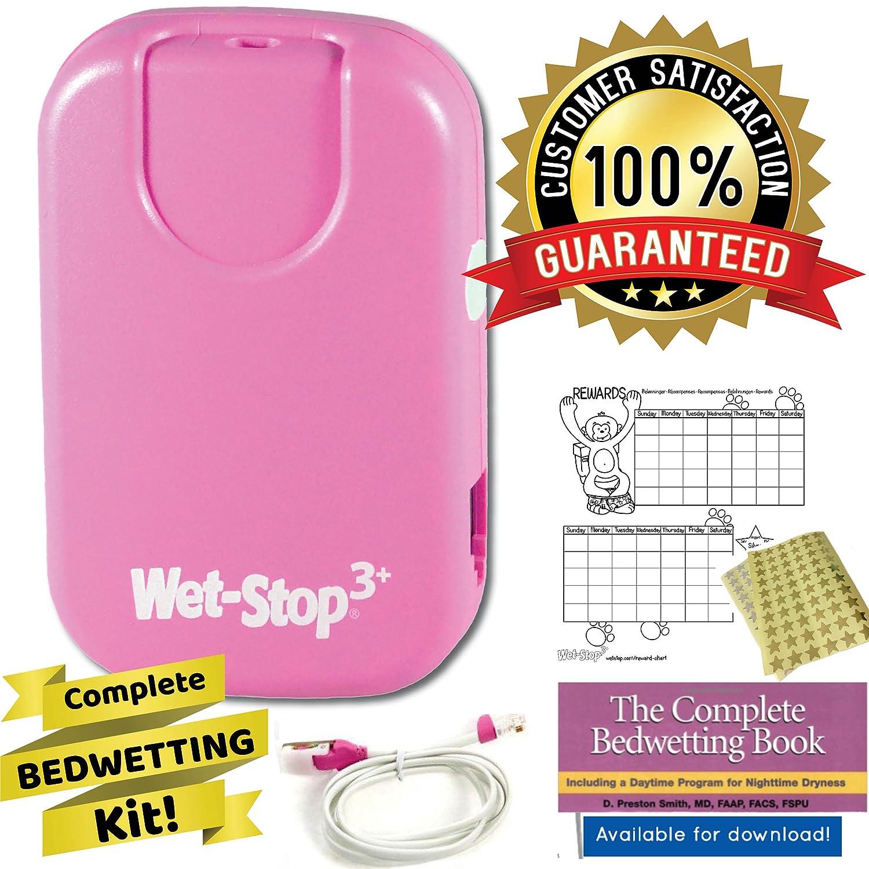 Wet-Stop3 Rose Enurésie Alarme avec Son et vibrations, Moniteur Pipi au lit d'alarme pour les garçons ou les filles pour l'énurésie nocturne