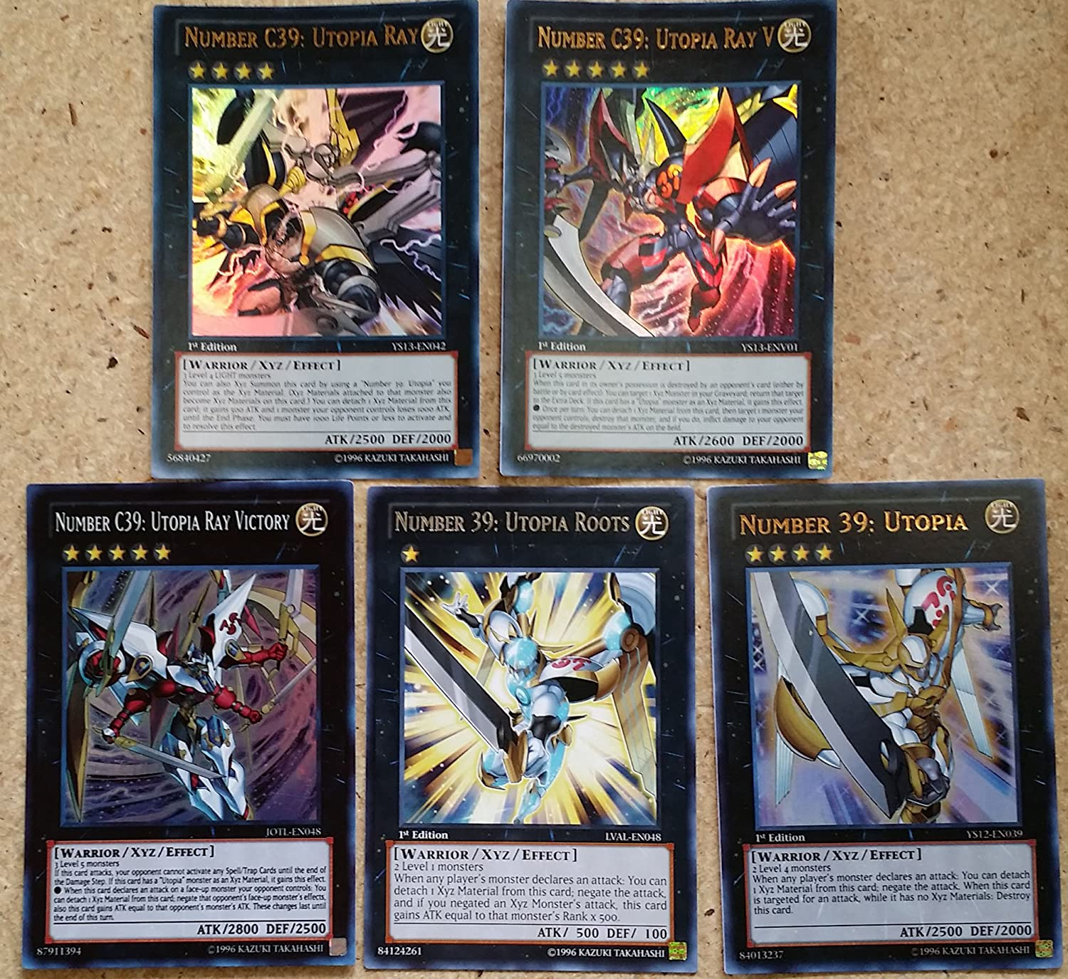 yugioh 5 card utopia set w number 39 utopia ray victory v roots