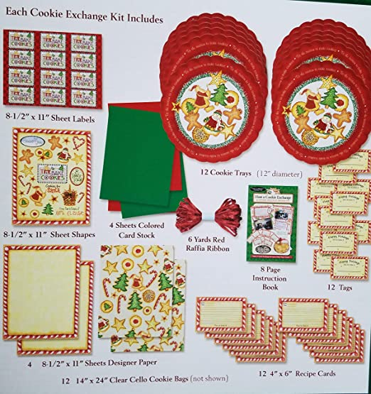 Cookbookin Instruction and Supplies Cookie Exchange Kit