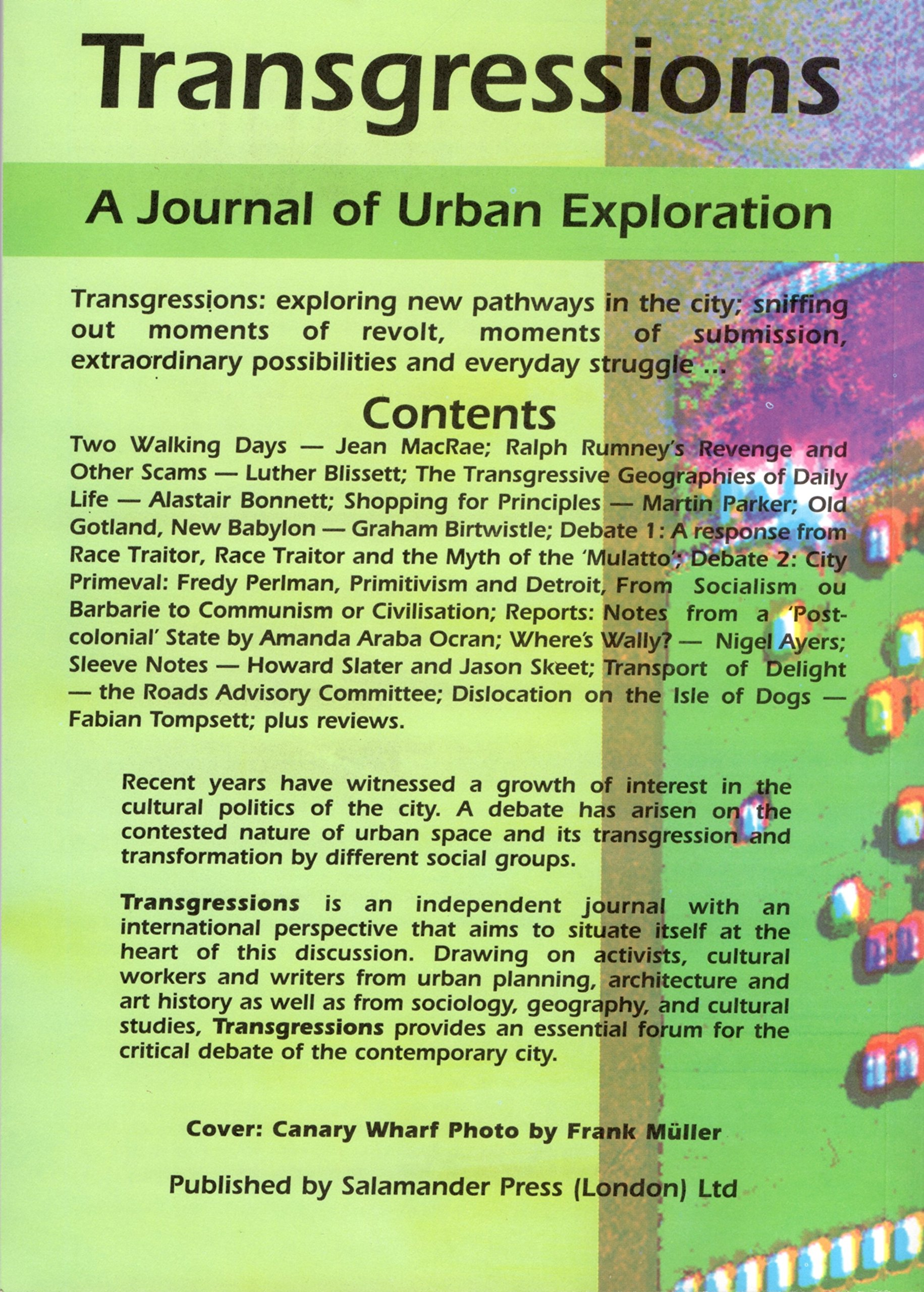Transgressions: a Journal of Urban Exploration  Issue 2/3