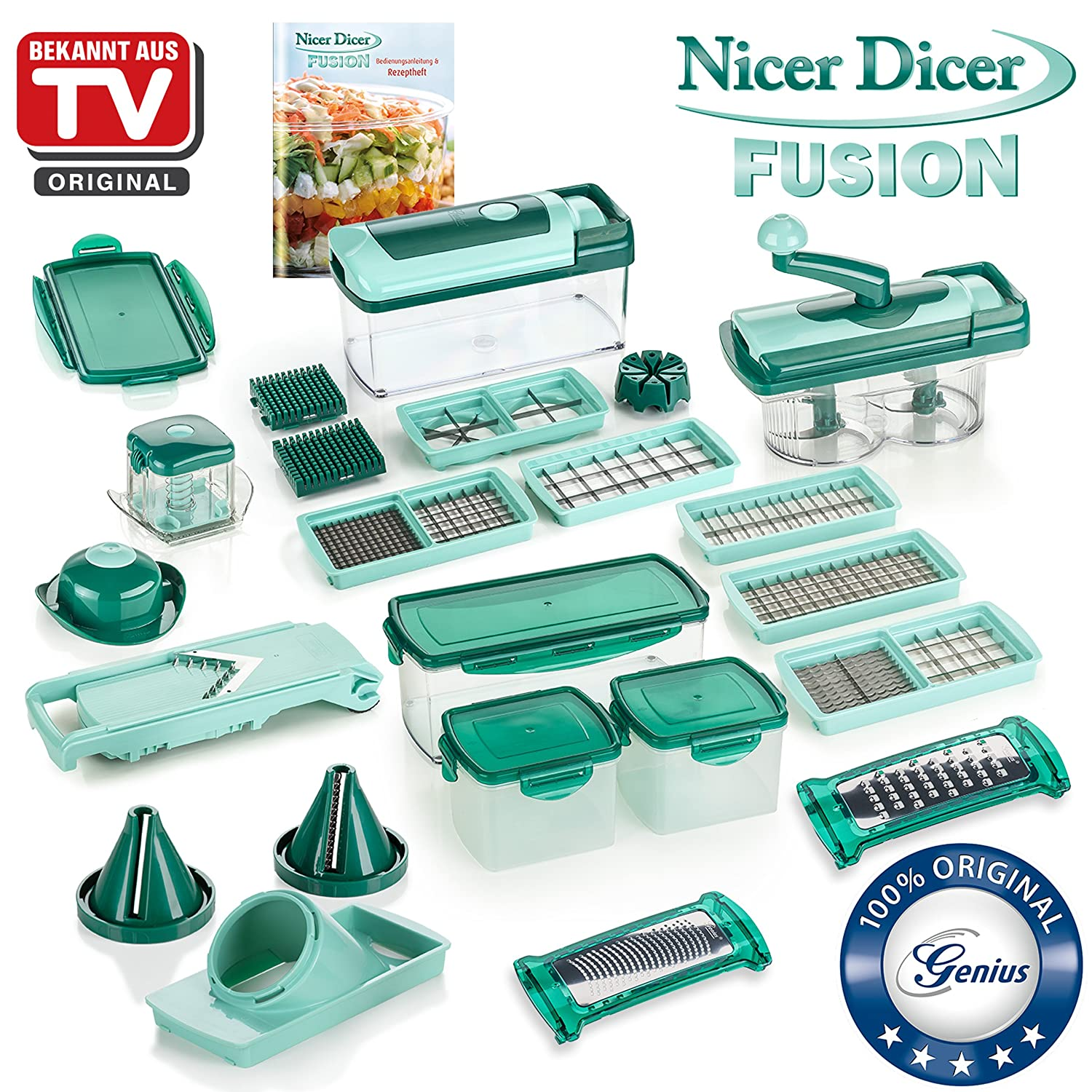 34 piece julienne slicer cutter genius nicer dicer quarter eighth decor spirals ebay. Black Bedroom Furniture Sets. Home Design Ideas
