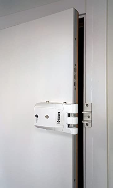 Remock RLP4W Lockey Pro - Cerradura de seguridad invisible con 4 mandos (3 V) color blanco