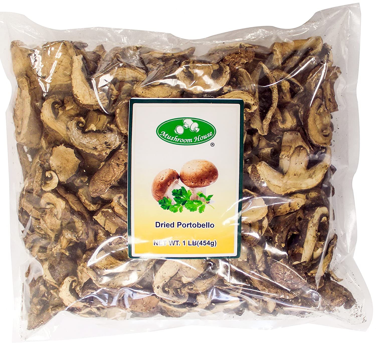 Mushroom House Dried Portobello Mushroom Slices 1 Lb Amazon Com Grocery Gourmet Food