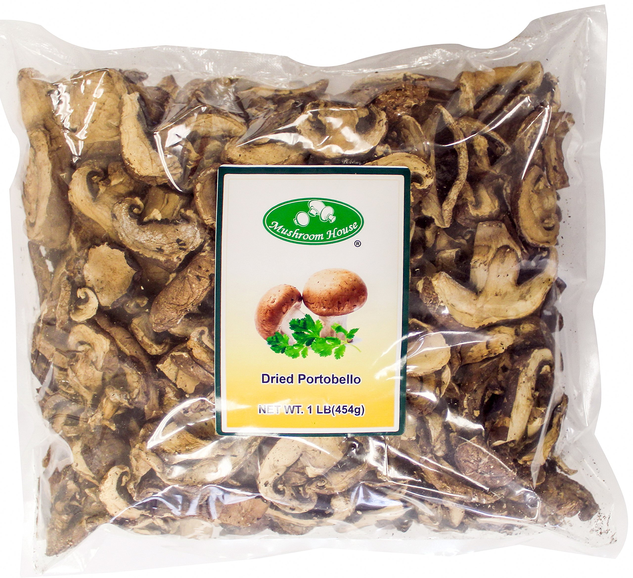 Mushroom House Dried Portobello Mushroom Slices, 1 Pound