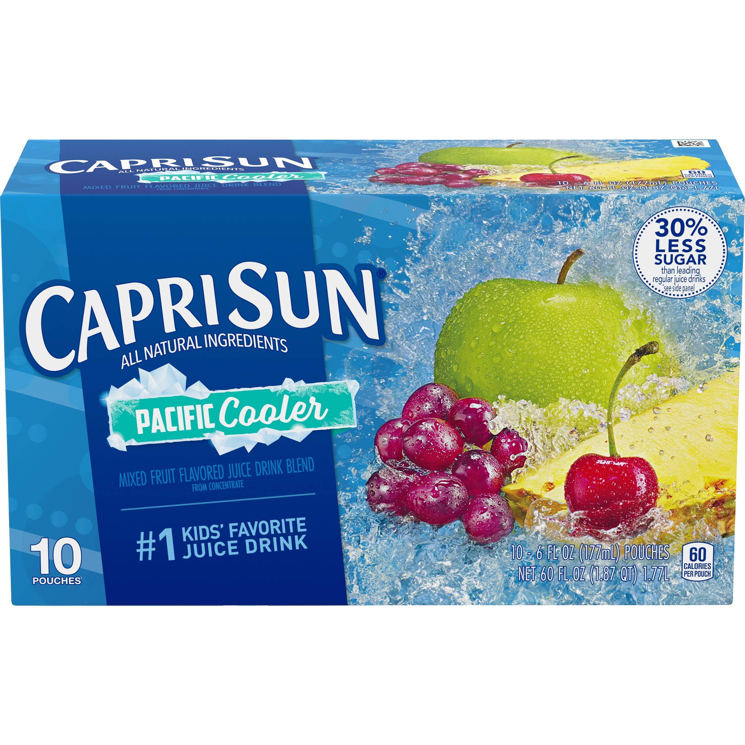 Capri Sun Pacific Cooler Mixed Fruit Flavored Juice Drink Blend, 10 ct - Pouches, 60.0 fl oz Box