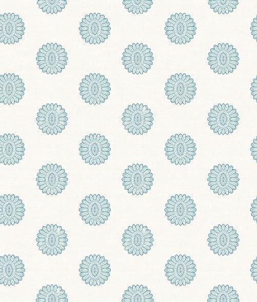 A Street Prints 2657 22233 Lise Medallion Wallpaper Aquamarine