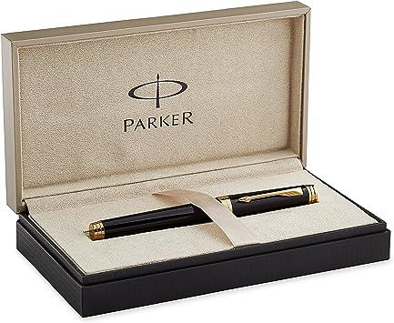 Parker Sonnet Fountain Pen Gold plated Nib Black Laque Excellent Shape
