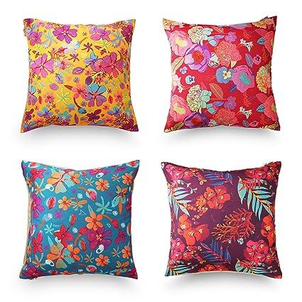 Amazon DecoJungle Tropical Throw Pillow Covers Set Of 40 40x40 Interesting Tropical Throw Pillow Covers
