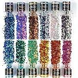 LET'S RESIN Chameleon Chunky Glitter, 120G/4.2oz Colorshift Chunky Glitter for Resin, Craft Glitters Sequins for Epoxy Resin,