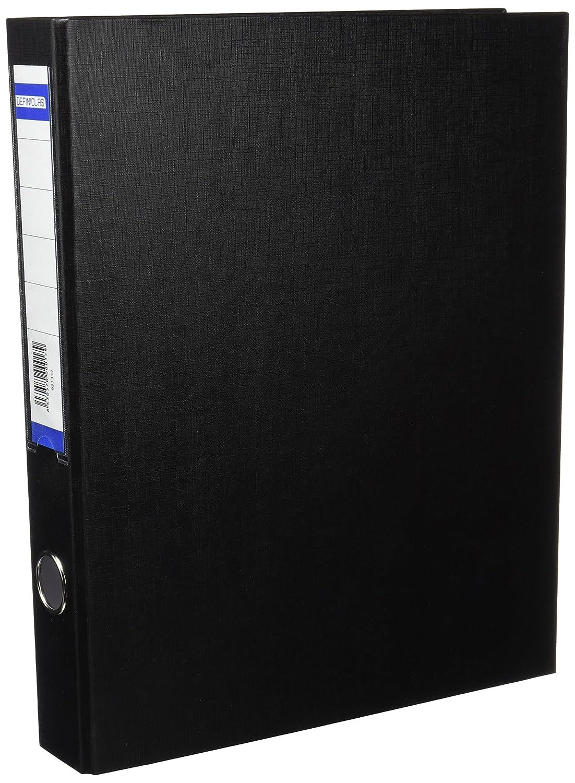 definiclas 931332–Cartella con 2anelli, colore: nero