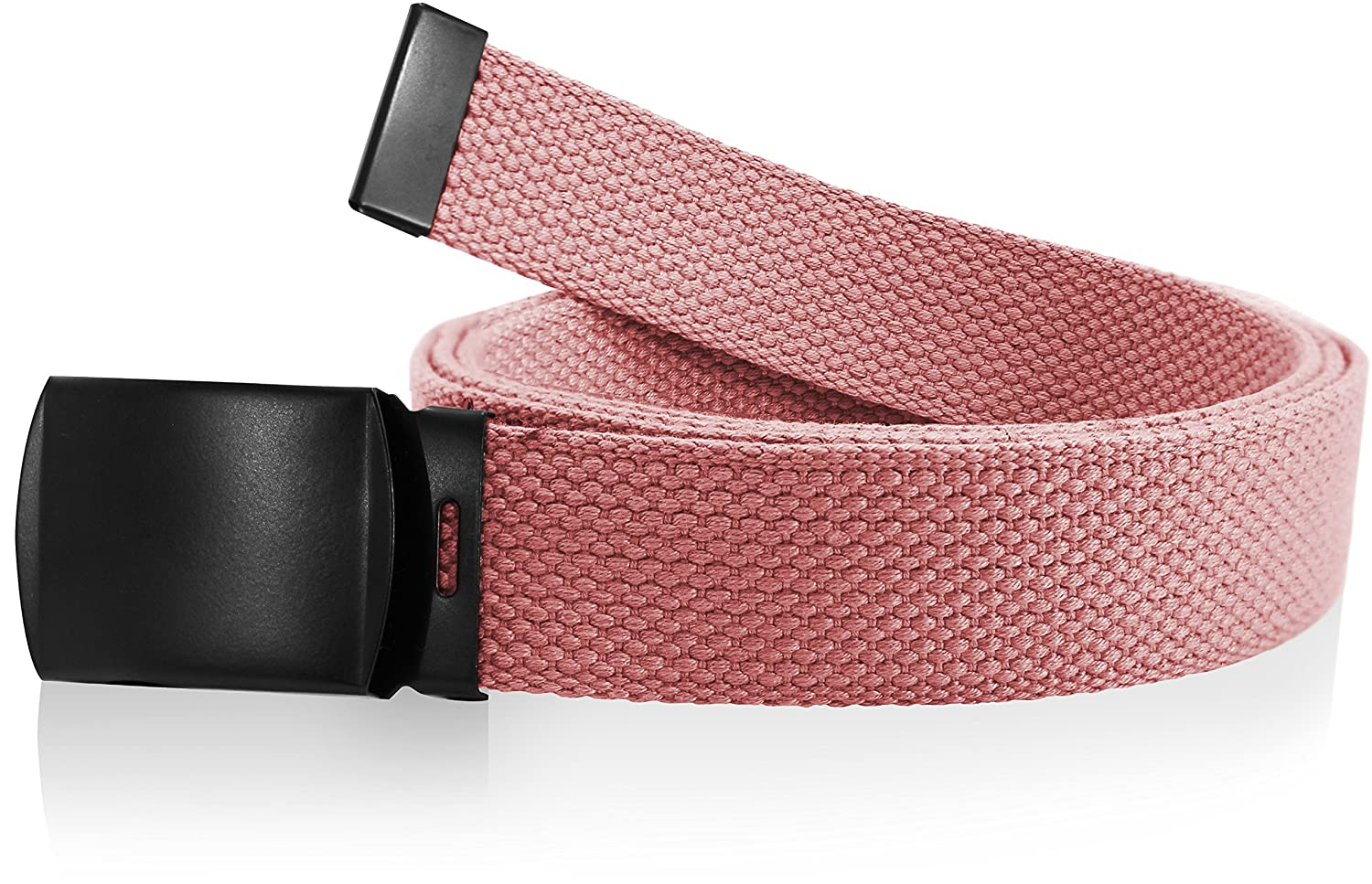 """Nice Shades Canvas Military Web Belt w/ Black Slider Buckle (Many Colors) 56"""""""