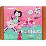 Jackinthebox Princess 3-In-1 Craft Kit For Girls: Contains A Princess Cape, Tiara, And Wand