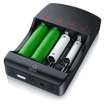 aplic - Cargador de batería Universal: Amazon.es: Electrónica