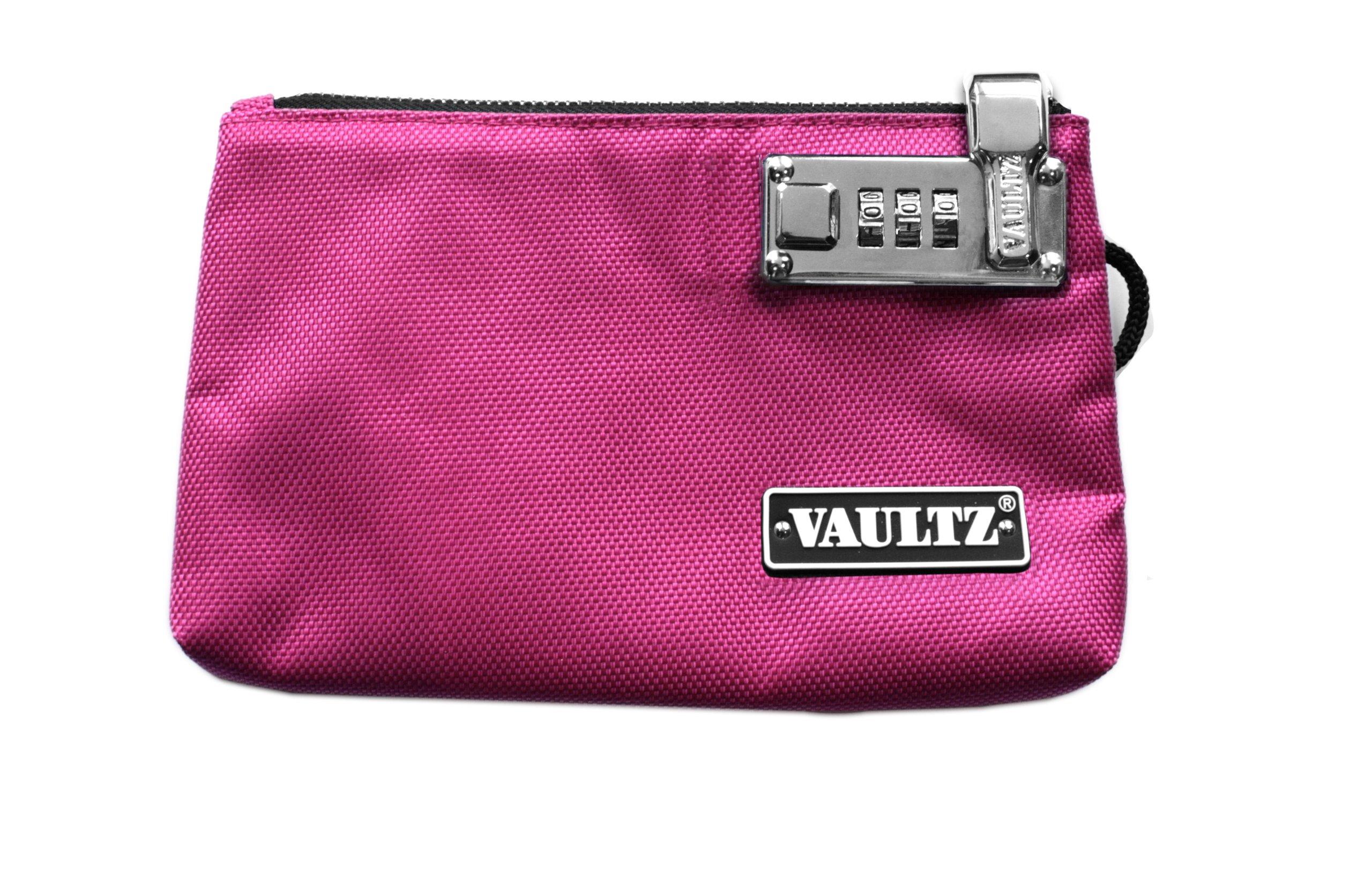 Vaultz Locking Zipper Pouch, 5 x 8 Inches, Pink (VZ00471)