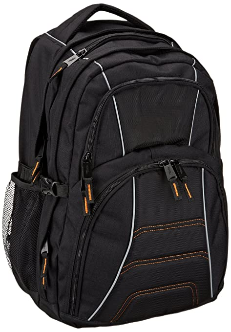 Amazon.com  AmazonBasics Backpack for Laptops up to 17-inches ... a4066fde60