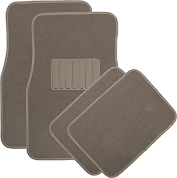 Set of 4 Prestige Connected Essentials 5013670 Tailored Heavy Duty Custom Fit Car Mats Black with Black Trim